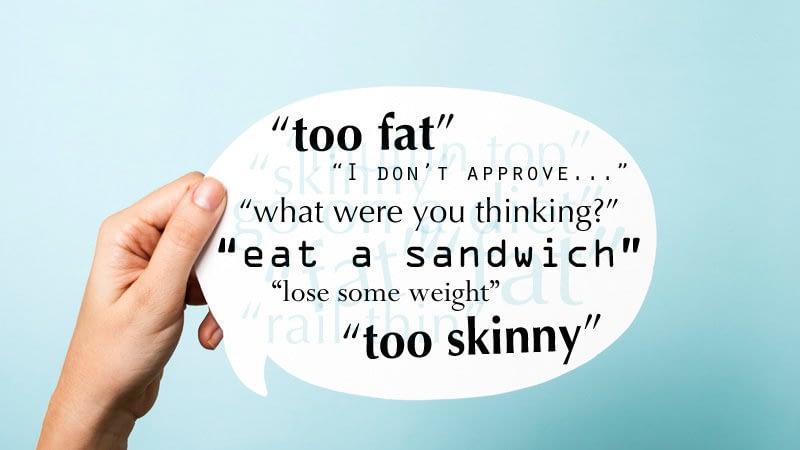 «Shame on you, body shaming»